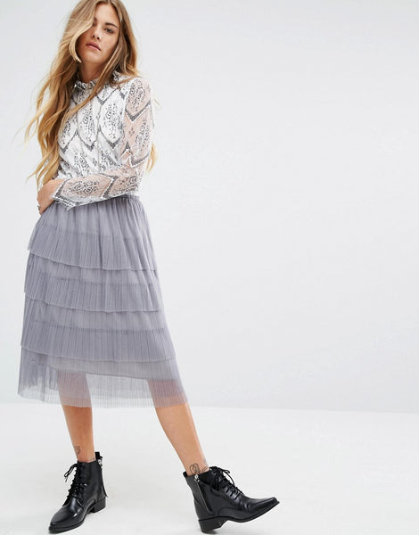 Modest Lavender Skirt