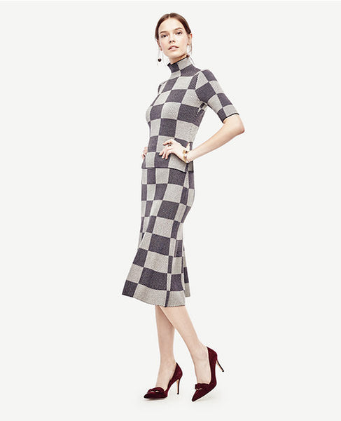 Modest Checked Dress