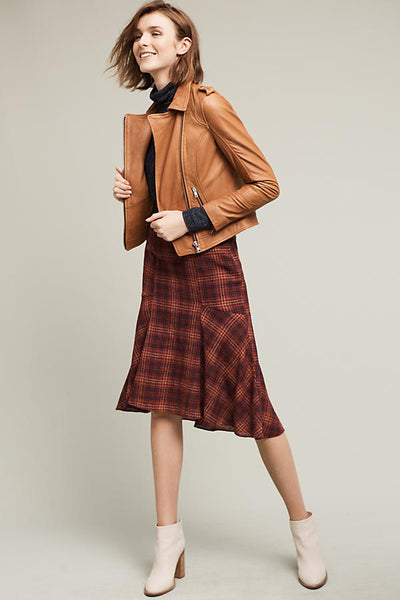 Modest Plaid Skirt