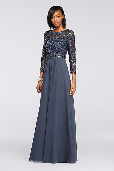 Modest Sequin Lace Gown
