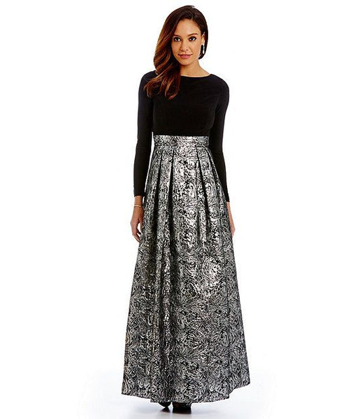 Modest Metallic Maxi Skirt