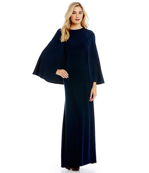 Modest Navy Gown
