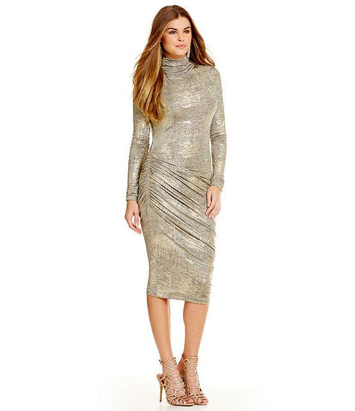 Modest Metallic Dress
