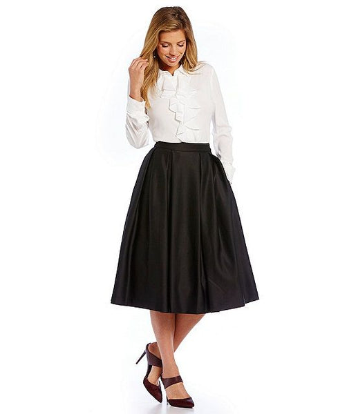 Modest Black Midi Skirt