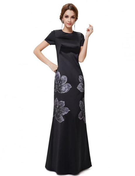 Modest Black Gown