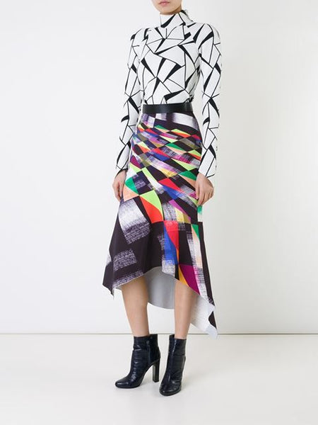 Modest Geometric Skirt