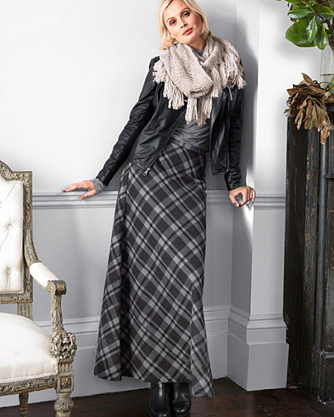 Modest Plaid Maxi Skirt