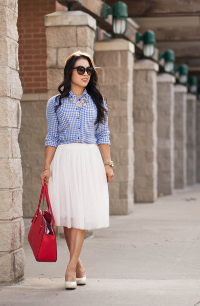 Modest Gingham and Tulle