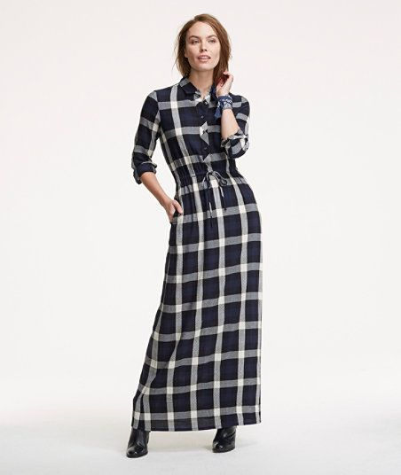 Modest Plaid Dress
