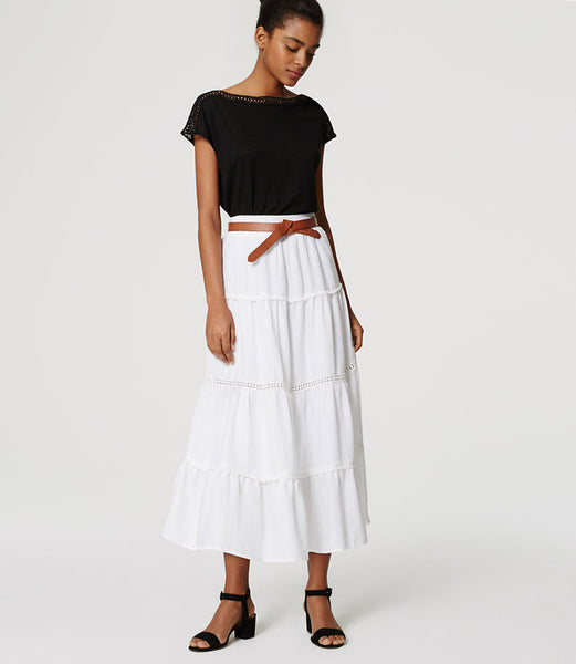 Modest White Skirt