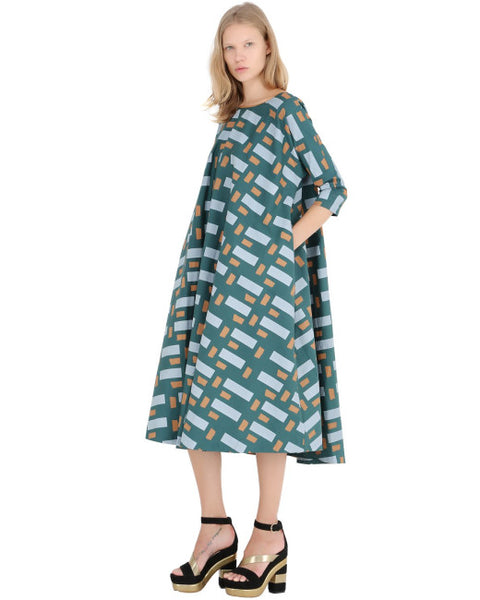 Modest Geometric Dress