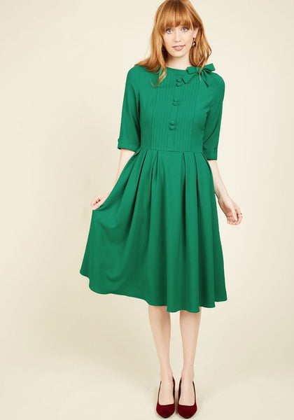 Modest Green Dress