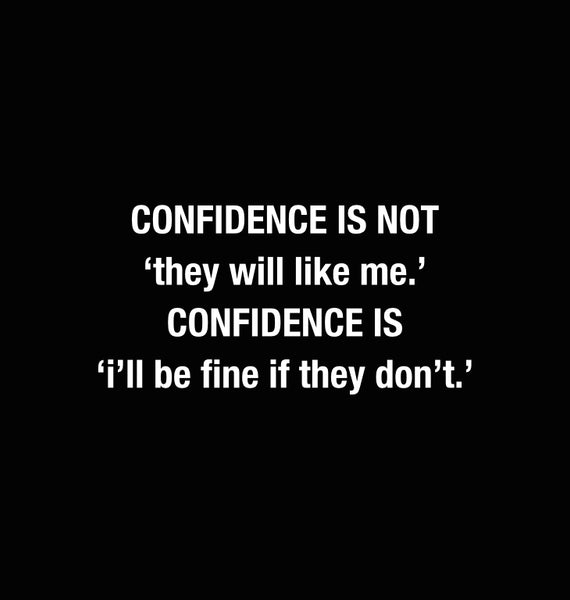 modesty builds confidence