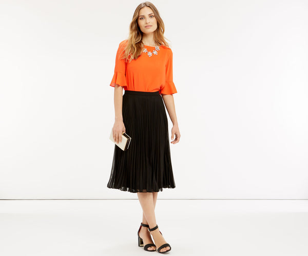 Modest Black Pleated Skirt