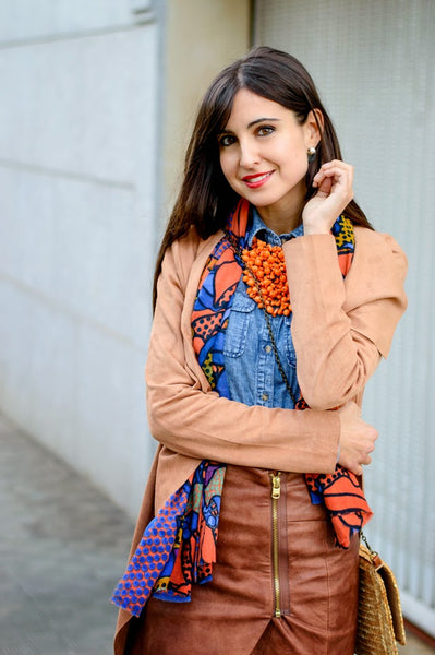 Modest Denim + Orange