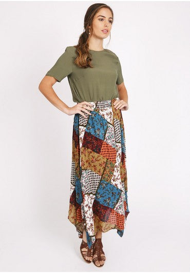 Modest Patchwork Skirt