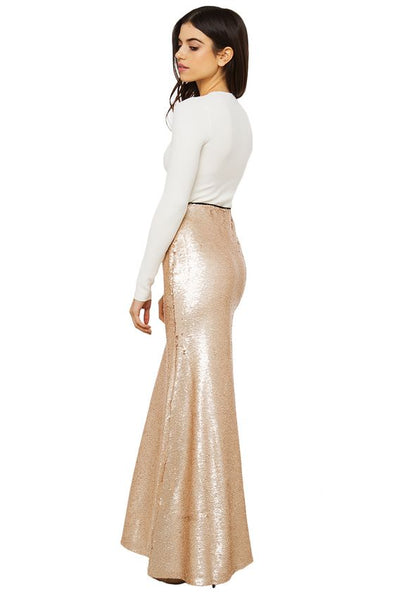 Modest Sequin Maxi Skirt