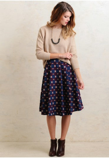 Modest Printed Midi Skirt