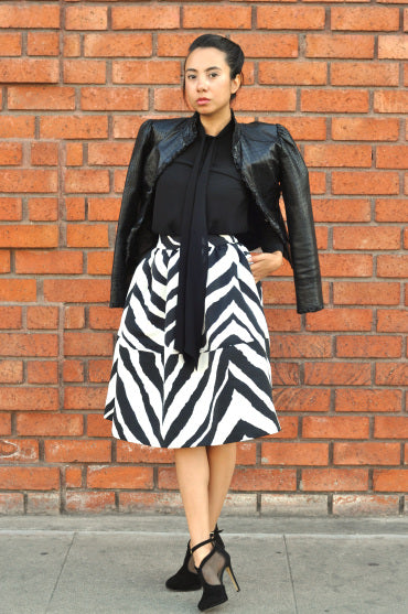 Modest Zebra Print Skirt