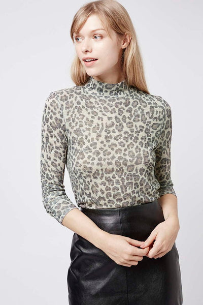 Modest Leopard Print Top