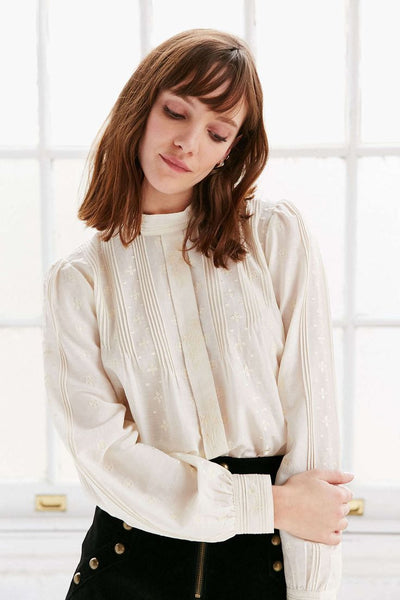 Modest White Blouse