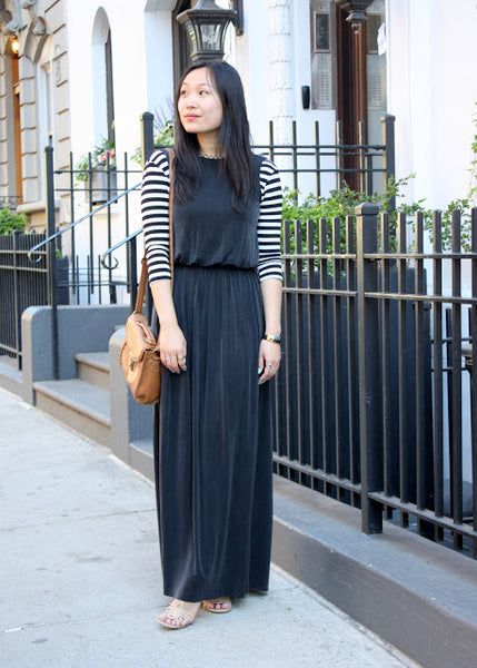 Modest Black Maxi Dress