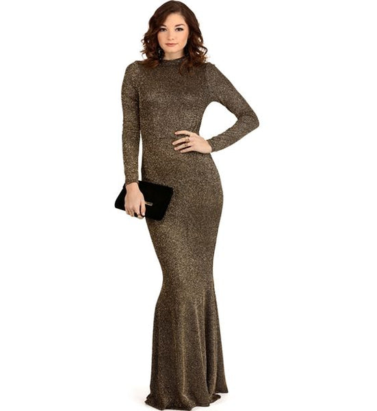 Modest Metallic Gown