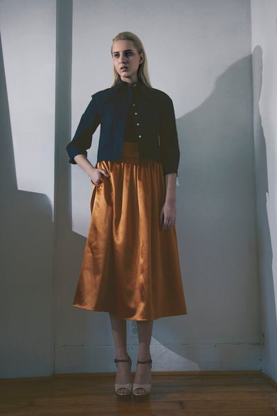 Modest Copper Party Skirt