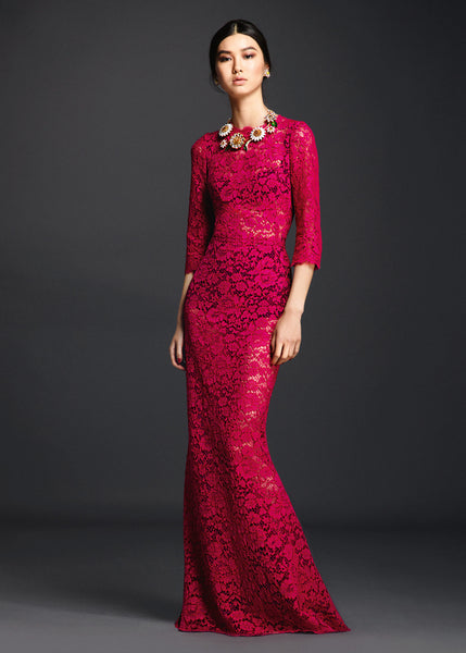Modest Red Gown