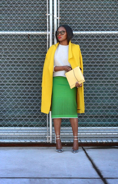 Modest Green and Yellow