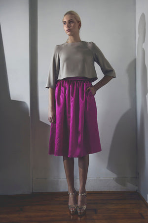Modest Fuchsia Party Skirt