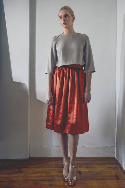 Modest Paprika Party Skirt