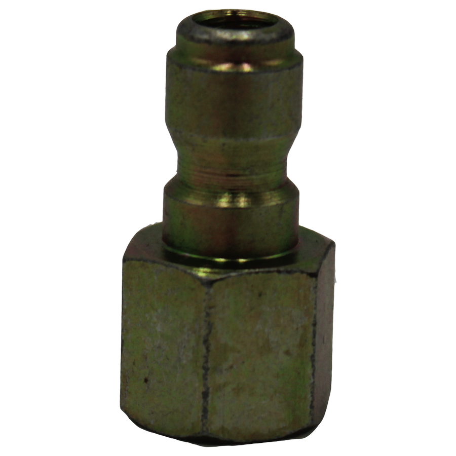 "Quick Coupler Plug, Brass, 1/4"" FPT"