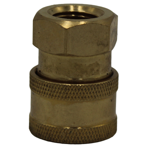"Quick Coupler. Brass, 1/4"" FPT."