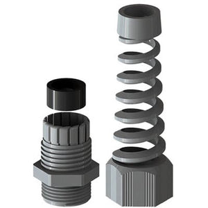 "Coil Hose Grip - Flexible, Strain Relief 3/4"" NPT"