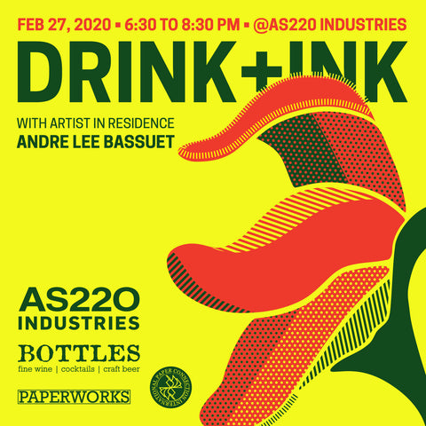 AS220 Industries: Drink & Ink February 2020