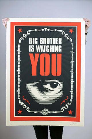 Shepard Fairey - Big Brother Is Watching You