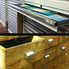 Flat File + Drawer Storage