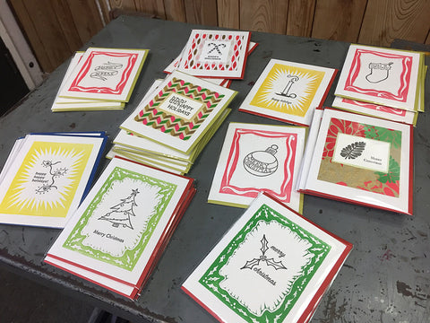 Letterpress Your Own Holiday Cards!