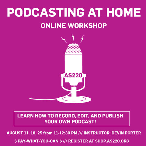 Online workshop: Podcasting at Home