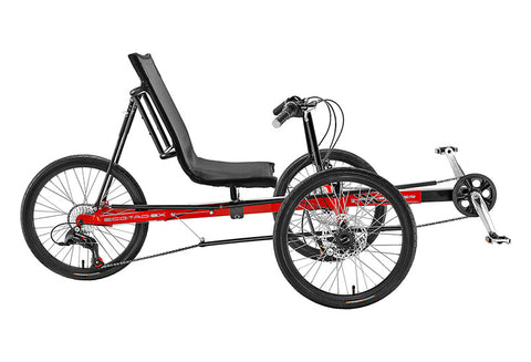 Recumbent trike - EcoTad, Red (SunSeeker)