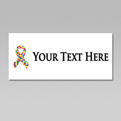 Autism Awareness Puzzle Ribbon Personalized Heat Transfer