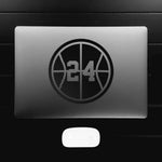 Basketball Silhouette Customizable Number Decal Sticker (Specialty Colors)