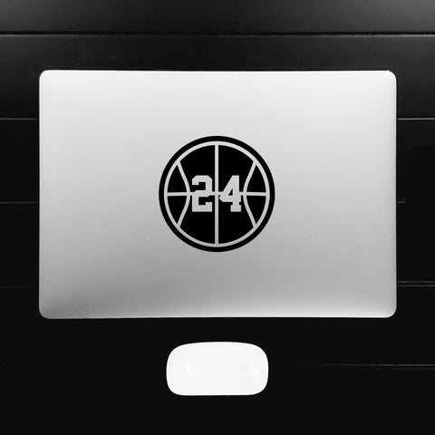 Basketball Silhouette Customizable Number Decal Sticker