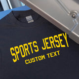 Custom Text Lower Arched Iron-On Transfers (Matte)