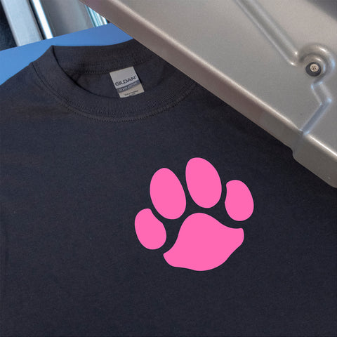 Dog Paw Print T-Shirt Heat Transfer