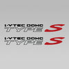 Acura I-Vtec DOHC Type S Decal 1 Pair Set