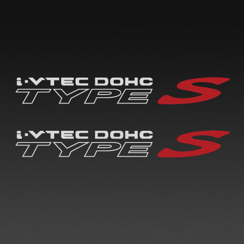 Acura IVtec DOHC Type S Decal Pair Set By Junes Custom Graphics - Acura decals