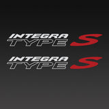 Honda Integra Type S Replica Decal 1 Pair Set