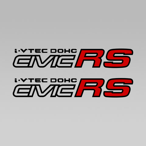 I-Vtec DOHC Civic RS Decal 1 Pair Set